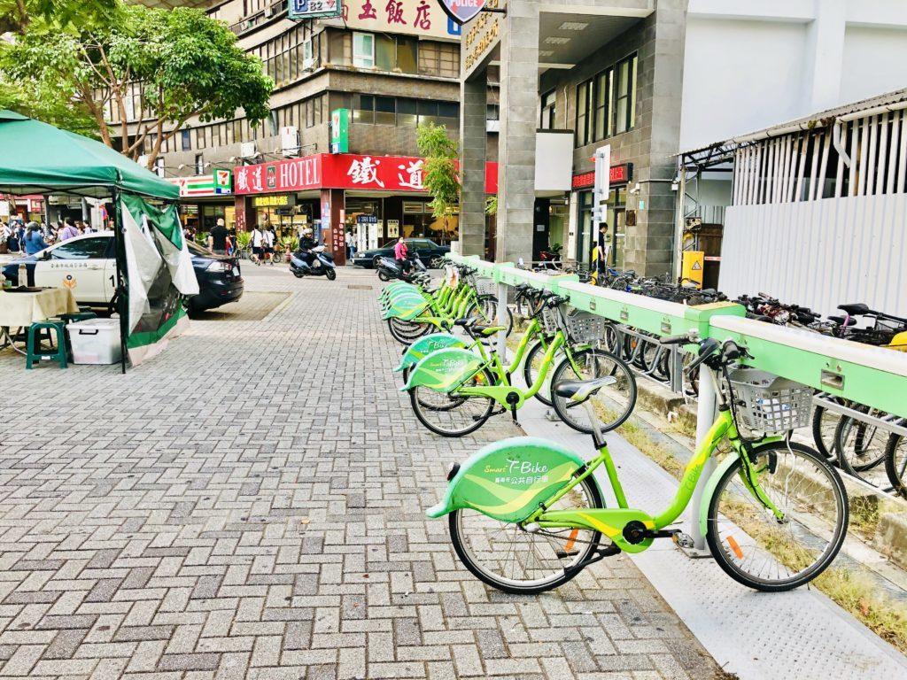 YouBikeならぬT-Bikeを発見!