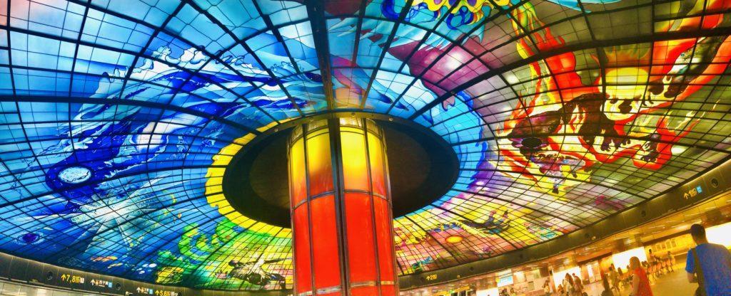 世界で最も美しい地下鉄ランキング「高雄の美麗島駅」