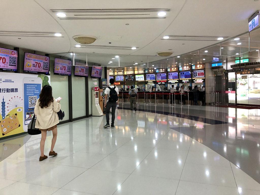 台北のバスターミナル